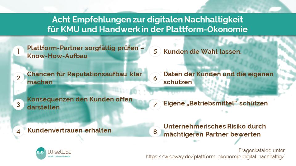 Plattform-Ökonomie digital nachhaltig: Empfehlungen für KMU und Handwerk