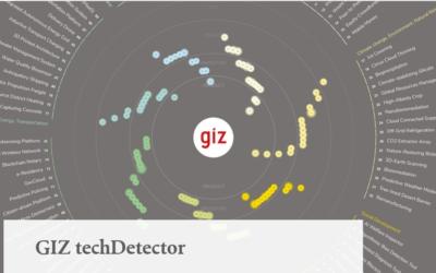 GIZ techDetector: Technologie-Scouting für Nachhaltige Entwicklung
