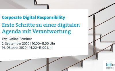 Bitkom Akademie: Online Seminar zu Corporate Digital Responsibility – jetzt anmelden!