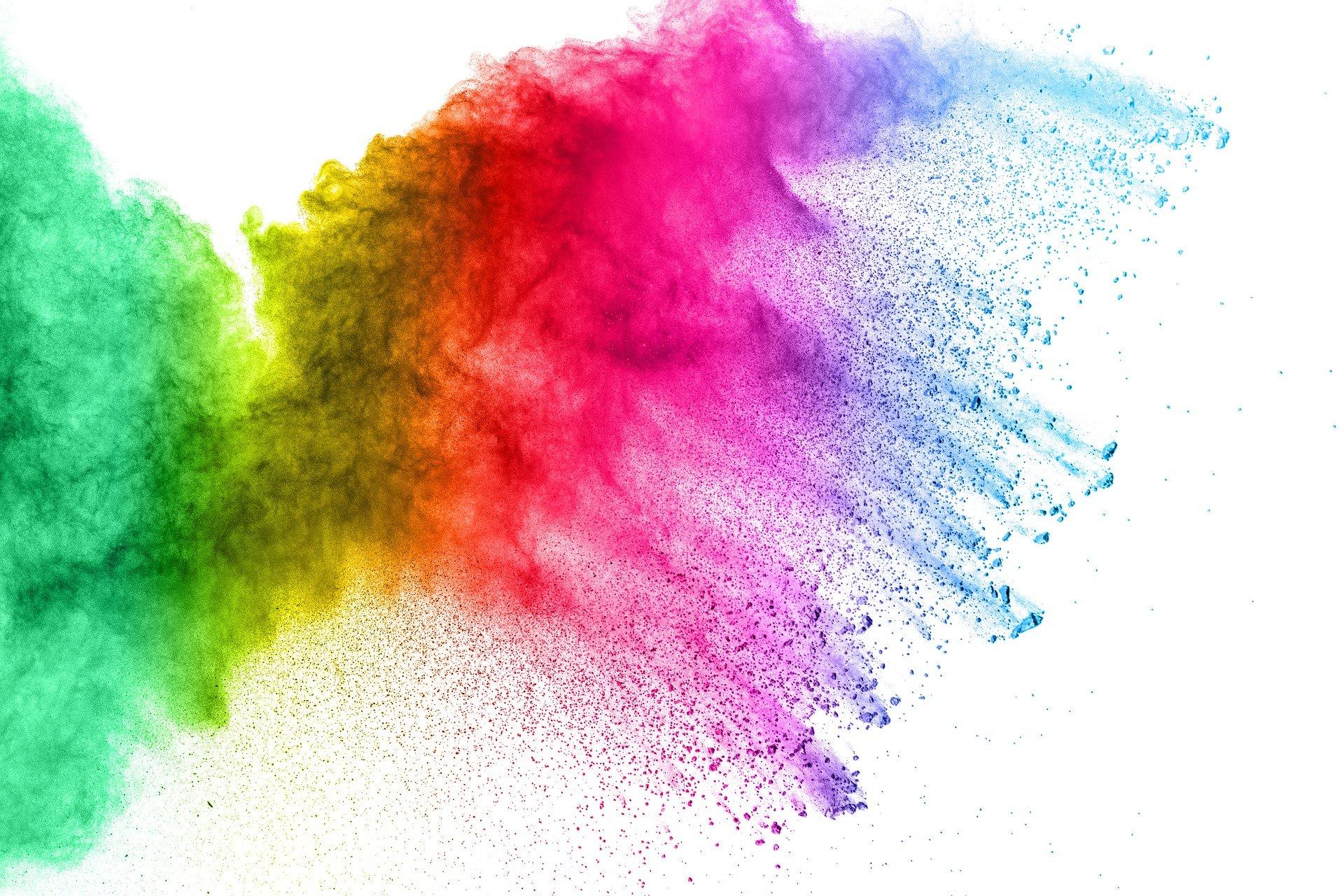 Regenbogenfarben - Holi Festival