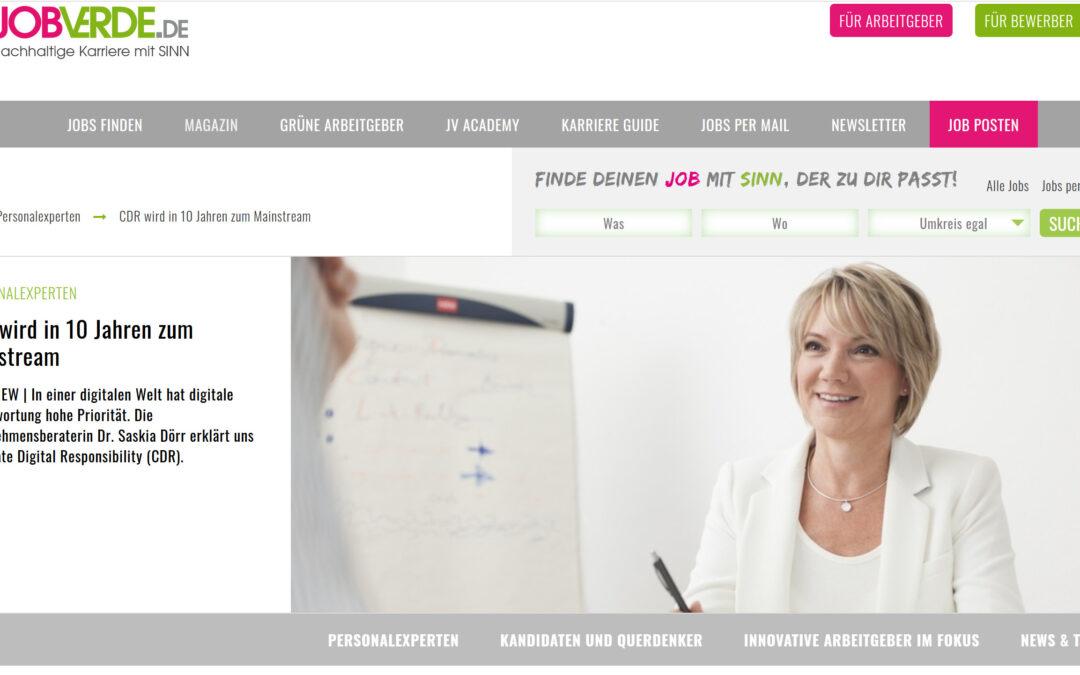 """Interview mit Jobverde: """"CDR wird zum Mainstream"""""""