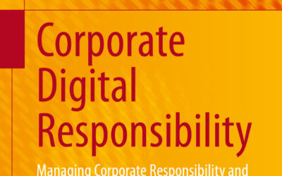 """Book announcement """"Corporate Digital Responsibility"""" by Saskia Dörr"""